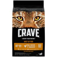 Crave Grain-Free with Protein from Chicken Adult Dry Cat Food, 4 lb