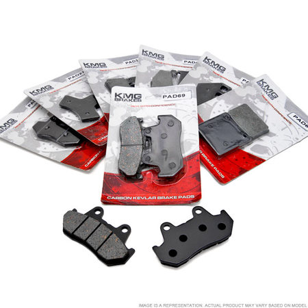 KMG Rear Brake Pads for 1988-2000 Honda GL 1500 SE A I Goldwing GL1500 - Non-Metallic Organic NAO Brake Pads Set - image 3 de 4