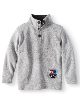 365 Kids From Garanimals Button Neck Pullover Fleece Sweater (Little Boys & Big Boys)
