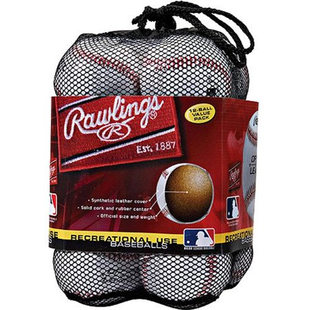 Rawlings Official League Recreational Use OLB3 Baseballs, 12 Pack