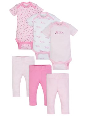 Bodysuits & Pants Set, 6-piece (Baby Girls)