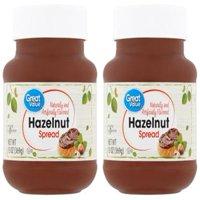 (2 Pack) Great Value Hazelnut Spread, 13 oz