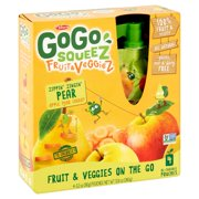 (3 Pack) GoGo Squeez Fruit & Veggiez On The Go Apple Pear Carrot - 4 CT