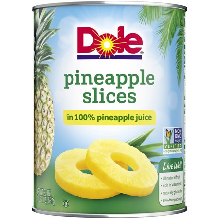 (3 Pack) Dole Pineapple Slices in 100% Pineapple Juice 20 oz. Can ()