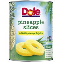 (3 Pack) Dole Pineapple Slices in 100% Pineapple Juice 20 oz. Can