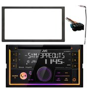 jvc kwr930bts double din car audio usb aux cd bluetooth receiver, enrock  double din installation