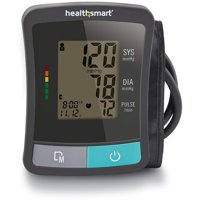 HealthSmart Upper Arm Blood Pressure Monitor with LCD Display and 2 Person Memory, Clinically Accurate, Automatic High Blood Pressure Monitor, Home Digital Blood Pressure Monitor, Black and Gray