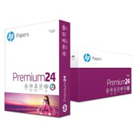 HP Papers Premium24 Paper, 98 Bright, 24lb, 8-1/2 x 11, Ultra White, 500 Sheets/Ream -HEW112400