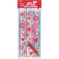 Simply Hearts Valentine Cello Bags, 20-Count