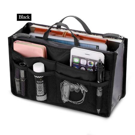 Black Friday Clearance! Women Pocket Large Travel Insert Handbag Tote Organizer Tidy Bag Purse Pouch DADEA - Sturdy Tote Bags