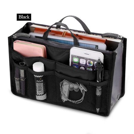 Black Friday Clearance! Women Pocket Large Travel Insert Handbag Tote Organizer Tidy Bag Purse Pouch