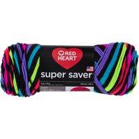 Red Heart Super Saver Yarn Neon Stripes