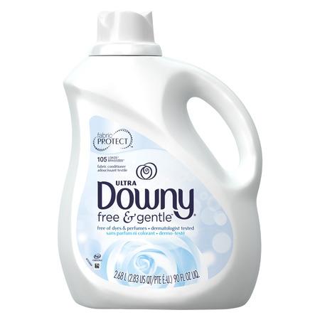 Downy Free & Gentle Liquid Fabric Conditioner, 105 Loads 90 fl