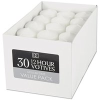 Unscented 12 Hour Votive Candles, 30 Pack