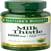 Nature's Bounty Milk Thistle 1000mg Softgels, 50 Ct