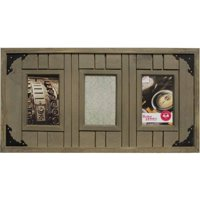 Better Homes and Gardens 3-Opening Driftwood Plank Collage Frame, Brown