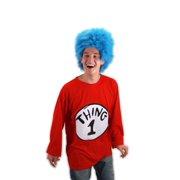 3d3b8cdc942 Dr. Seuss Thing 1 Costume Shirt Adult Small Medium