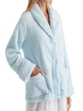 Women's La Cera 8825 100% Polyester Honeycomb Fleece Bed Jacket