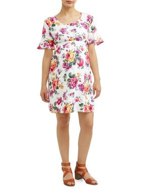 Maternity Floral Dress - Available in Plus Sizes