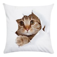 Throw Pillows Case, Justdolife Cute Cat Cushion Cover Bed Sofa Square Throw Pillow Case Home Office Decor Decorative for Couch Bedding 18'*18'