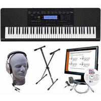 Casio WK-245 76-Key Premium Keyboard Package with Headphones, Stand, Power Supply, 6' USB Cable and eMedia Instructional Software