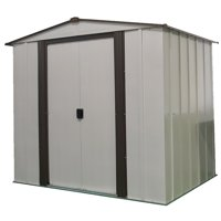 Newburgh 6 x 5 ft. Steel Storage Shed Coffee/Eggshell