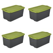 Sterilite, 30 Gal./114 L EZ Carry, Flat Gray/ Spicy Lime, Case of 4