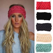 8ba59869495 Womens Ear Warmer Twist Knit Soft Braided Crochet Headband Winter Knit Head  Wrap