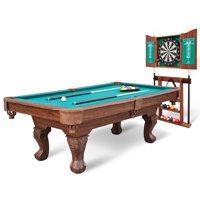 "EastPoint Sports 90"" Westford Billiard Pool Table with Dartboard & Cabinet"