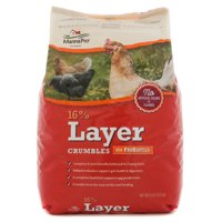 Manna Pro 16% Layer Crumble with Probiotics Chicken Feed, 8 lbs.