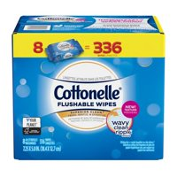 Cottonelle FreshCare Flushable Wet Wipes, 336 Wipes per Pack