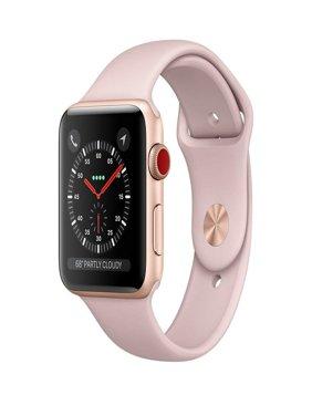 Apple Watch Series 3 42mm Smartwatch (GPS + Cellular, Rose Gold Aluminum Case, Pink Sand Sport Band) (Refurbished)