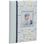 Pinnacle Frames and Accents Baby Boy's First Year Milestone Memory Book Journal and Photo Album