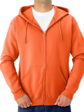 Men's Soft Medium-Weight Fleece Full Zip Hooded Jacket
