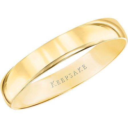 - 10kt Yellow Gold Wedding Band With High-Polish Finish, 4mm
