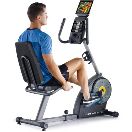 Gold's Gym Cycle Trainer 400 RI Recumbent Exercise Bike, iFit Compatible (Indoor Studio Cycle)