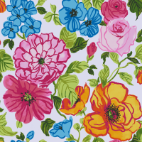 Waverly Inspirations Paint Brush Flower 100% Cotton Duck Fabric 45'' Wide, 180 Gsm, Quilt Crafts Cut By The Yard