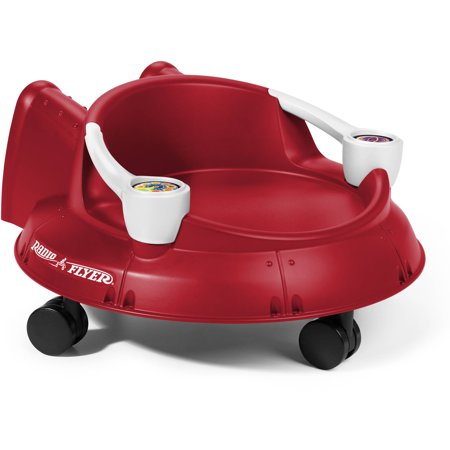 Radio Flyer, Spin 'N' Saucer, Caster Ride-On for Kids, Red - Flyer Flies
