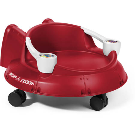 Radio Flyer, Spin 'N' Saucer, Caster Ride-On for Kids, Red - Saturday Night Fever Suit