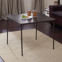 """Deep Brown Vinyl and steel 34"""" x 34"""" Square folding table -1pk"""