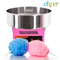 Clevr Commercial Cotton Candy Machine Carnival Party Candy Floss Maker, Pink