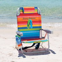 Tommy Bahama Backpack Cooler Beach Chair with Storage Pouch and Towel Bar - Multicolor
