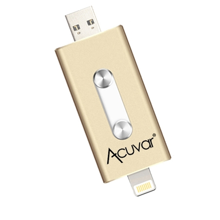 Acuvar 64GB Portable USB Flash Drive for all iPhone, iPad iOS Devices and all (Black Internal Flash Drive)