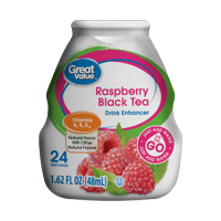 (10 Pack) Great Value Drink Enhancer, Raspberry Black Tea, 1.62 fl oz