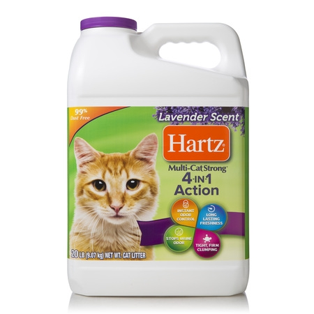 Hartz Multi-Cat Strong Lavender Scent Clumping Cat Litter, (Dust Free Clumping Cat Litter)