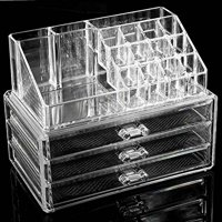HAPC Acrylic Makeup Organizer Luxury Cosmetics Clear Case Storage Insert Holder Box, A-Type