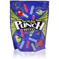 (2 Pack) Sour Punch Bites, Assorted Flavor Soft & Chewy Candy, 9 Oz
