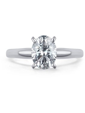 0.5 Carat T.W. Round White Diamond 14kt White Gold Solitaire Ring