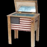 57 Quart Decorative Outdoor American Flag Cooler