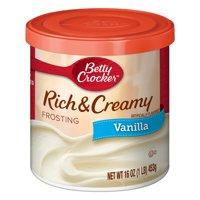 (4 Pack) Betty Crocker Rich and Creamy Vanilla Frosting, 16 oz